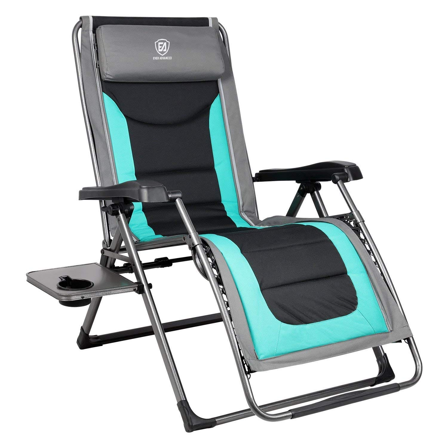 The EVER ADVANCED XL Zero Gravity Recliner and Padded Patio Lounger Chair