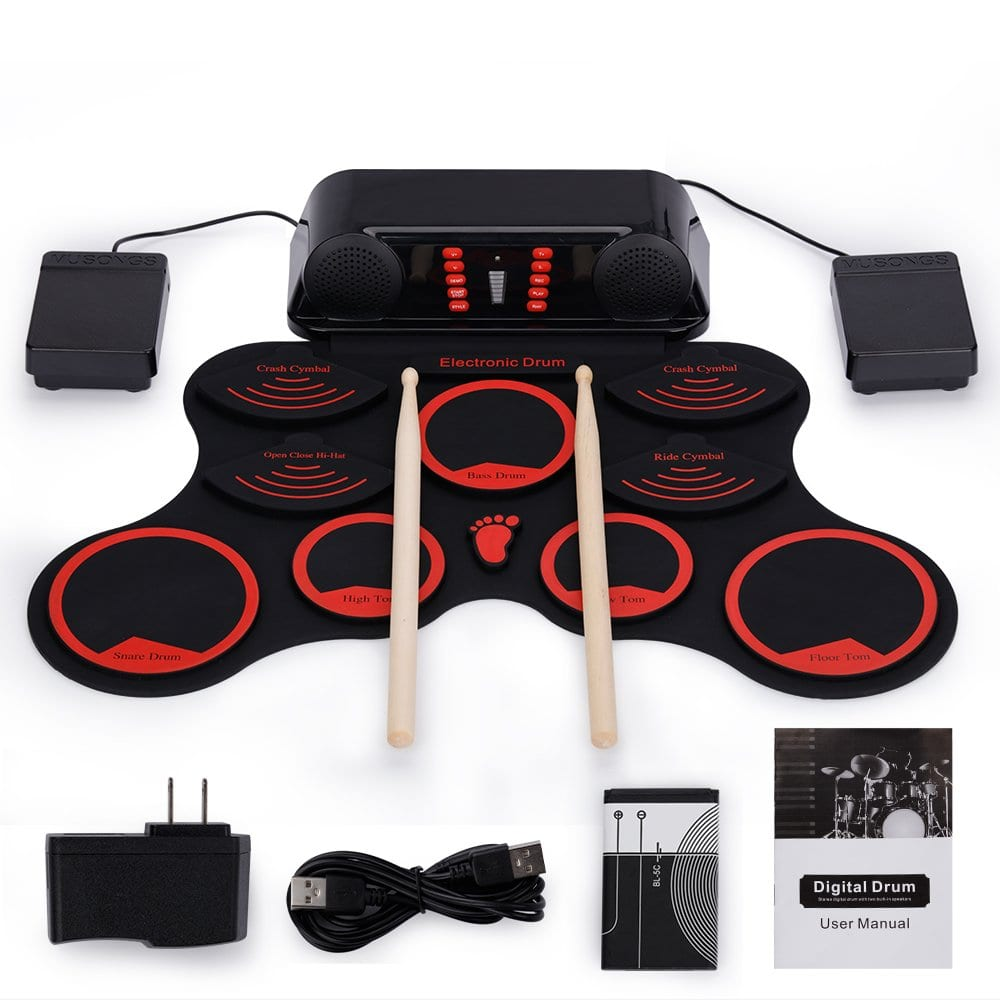 Roll-Up Drum Kit Portable Electronic Drum Set