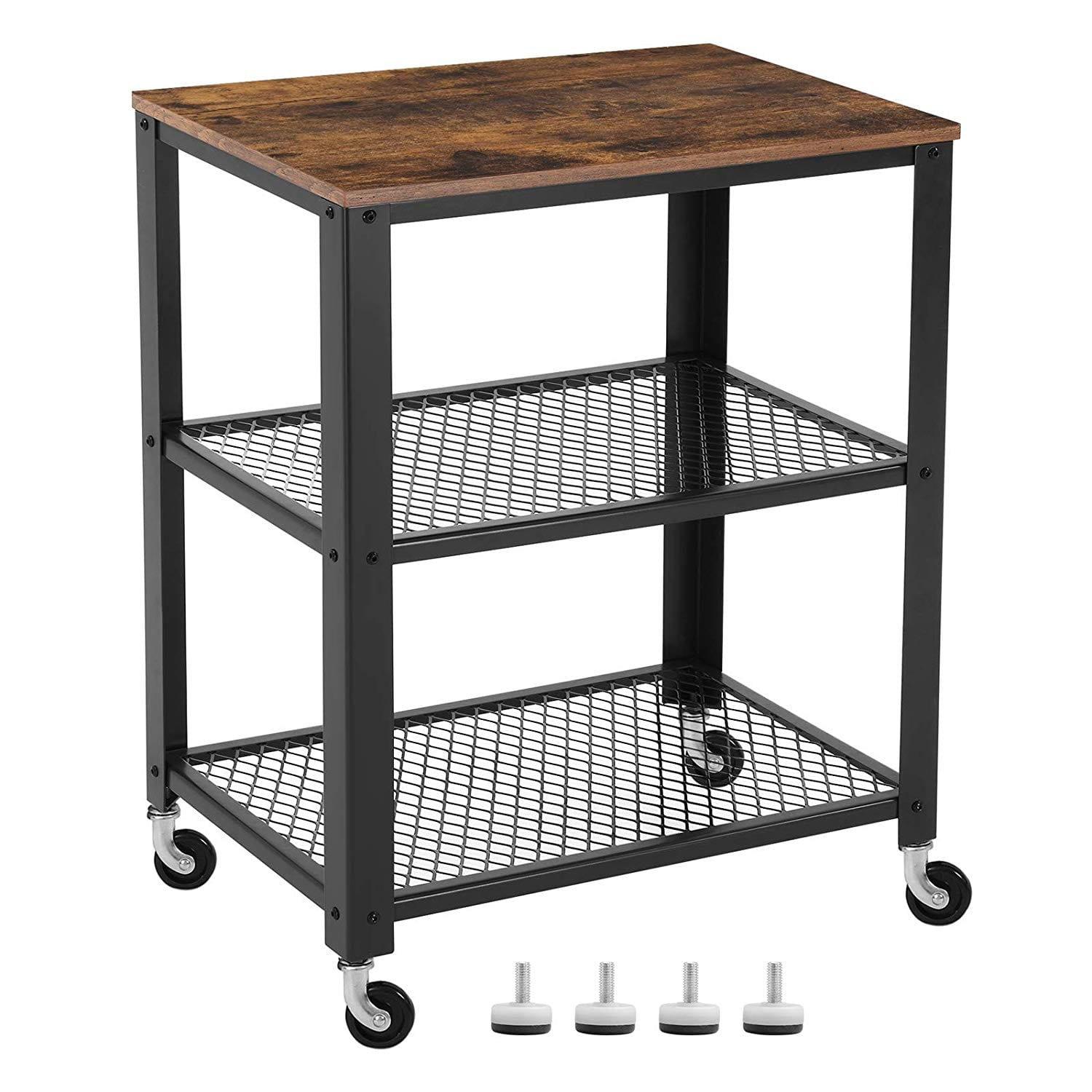 SONGMICS Vintage Serving Cart on Wheels, 3-Tier, ULRC78X