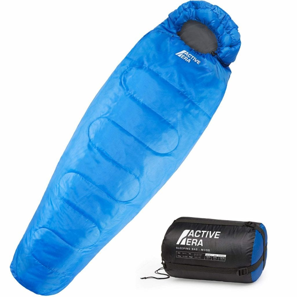 Active Era Sleeping Bag with a Compression Sack – Lightweight and Water Resistant