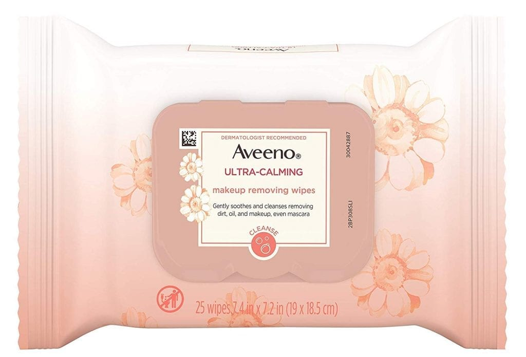 Aveeno Ultra-Calming Cleansing Oil-Free Makeup Remover Wipes