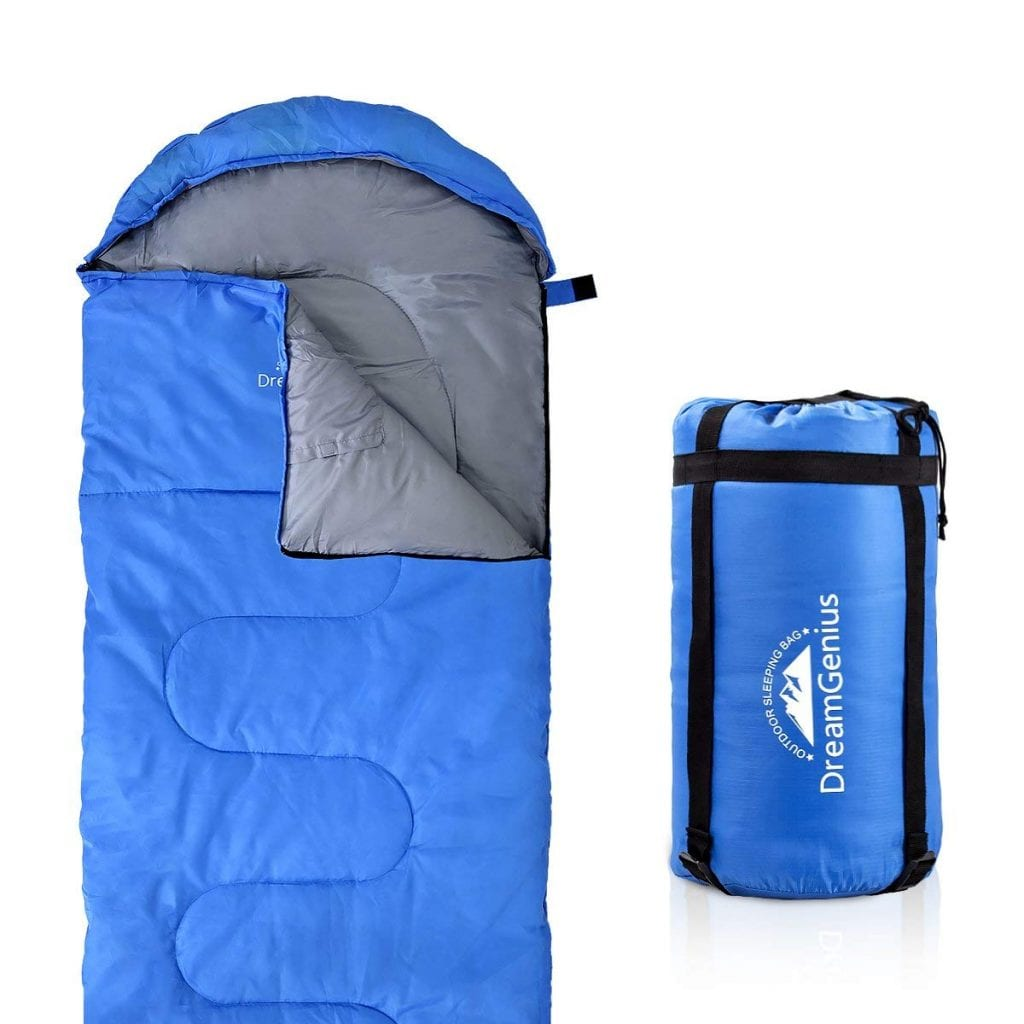 DreamGenius Sleeping Bag with a Compression Sack- 4 Season Camping