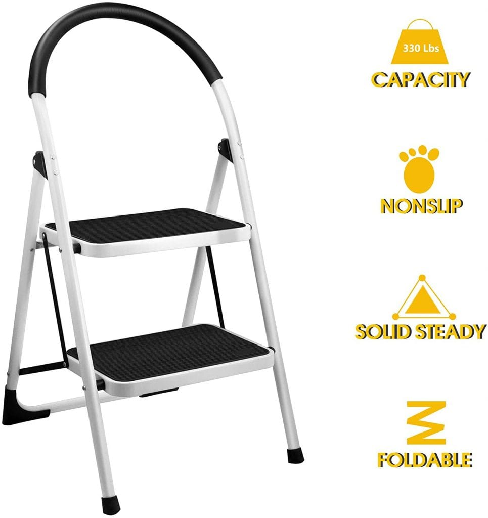 Gimify Steel 2 Step Stool