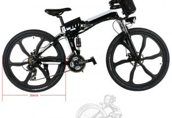Hurbo 250W-350W Folding Electric Mountain Bike