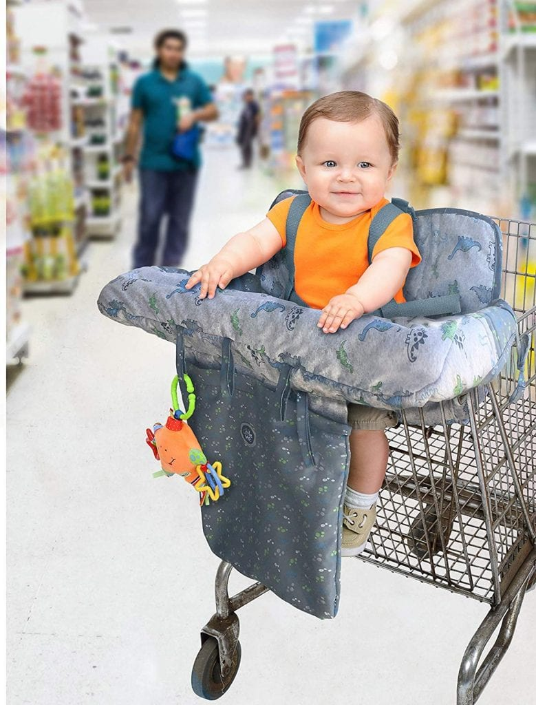 Little Me 2-in-1 Shopping Cart & High Chair Cover