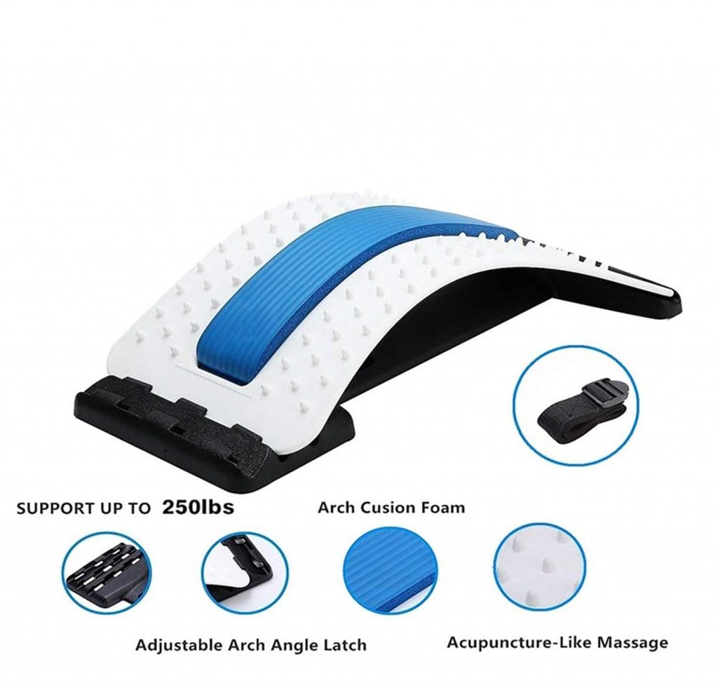Lumbar Stretcher- Lower & Upper Back Pain Relief
