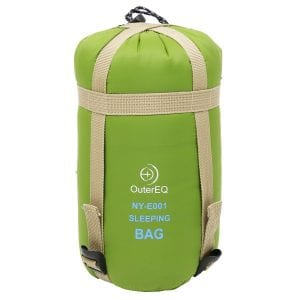 OuterEQ Sleeping Bag with a Compression Sack