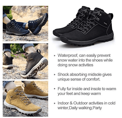 RZEN Hiking Boots Waterproof Men Lightweight Shoes