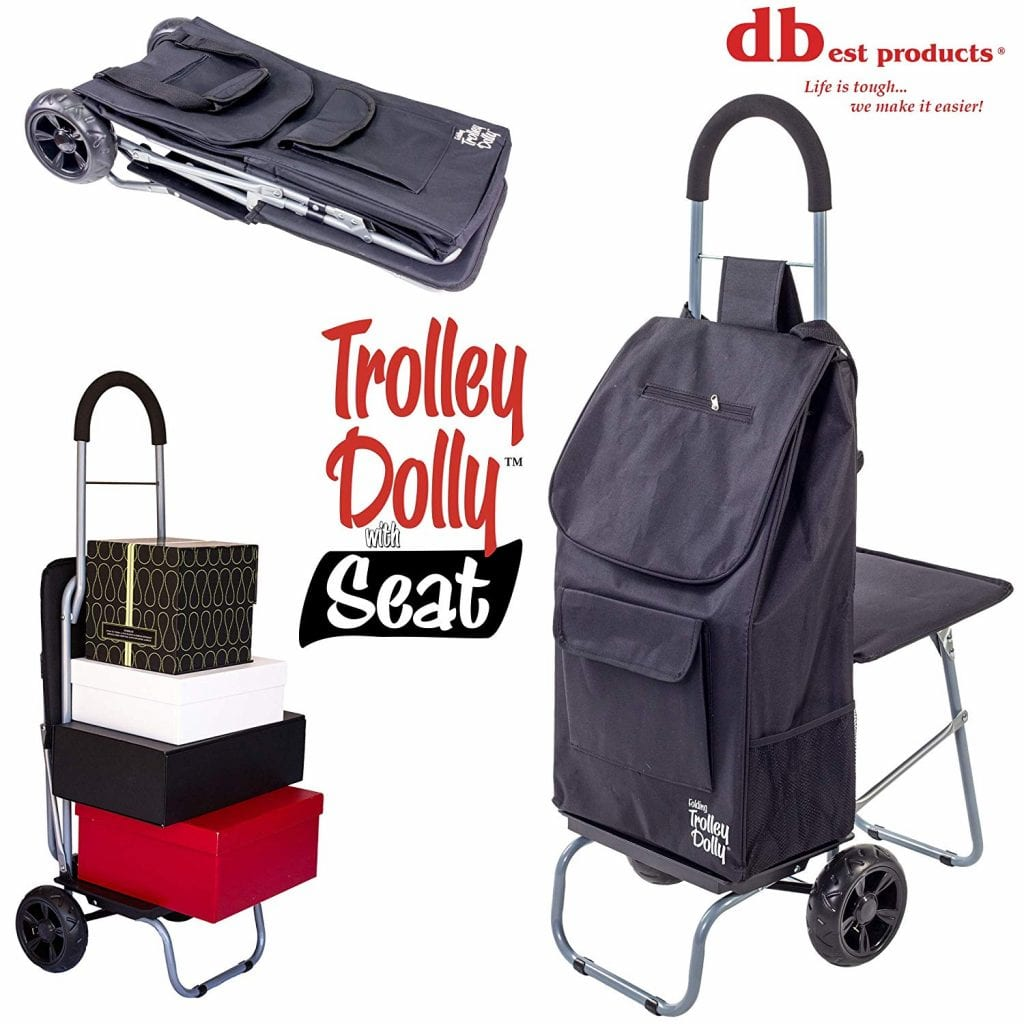 Trolley Dolly with Seat Shopping Cart