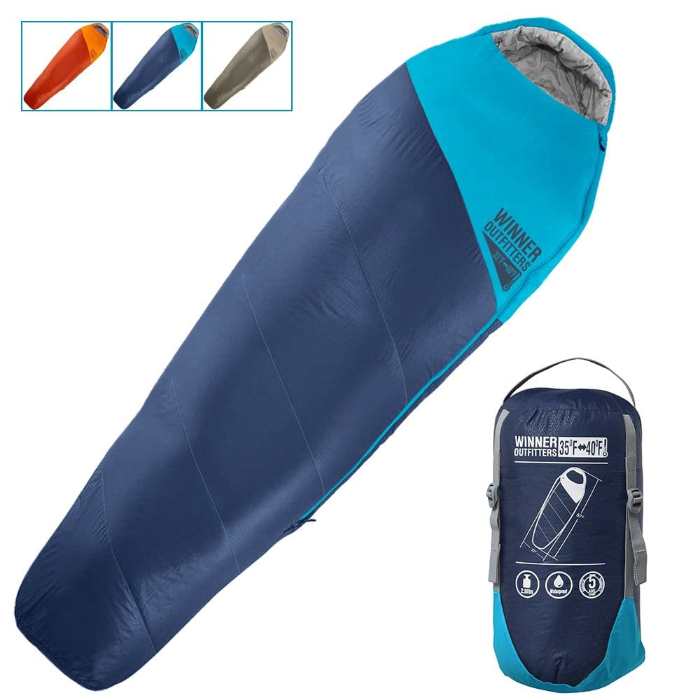 WINNER OUTFITTERS Sleeping Bag with a Compression Sack, Lightweight design