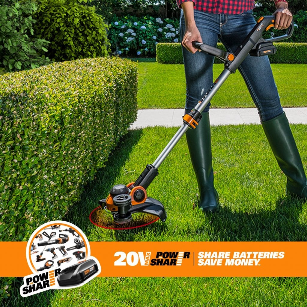 Worx Cordless Electric Grass Trimmer, WG163