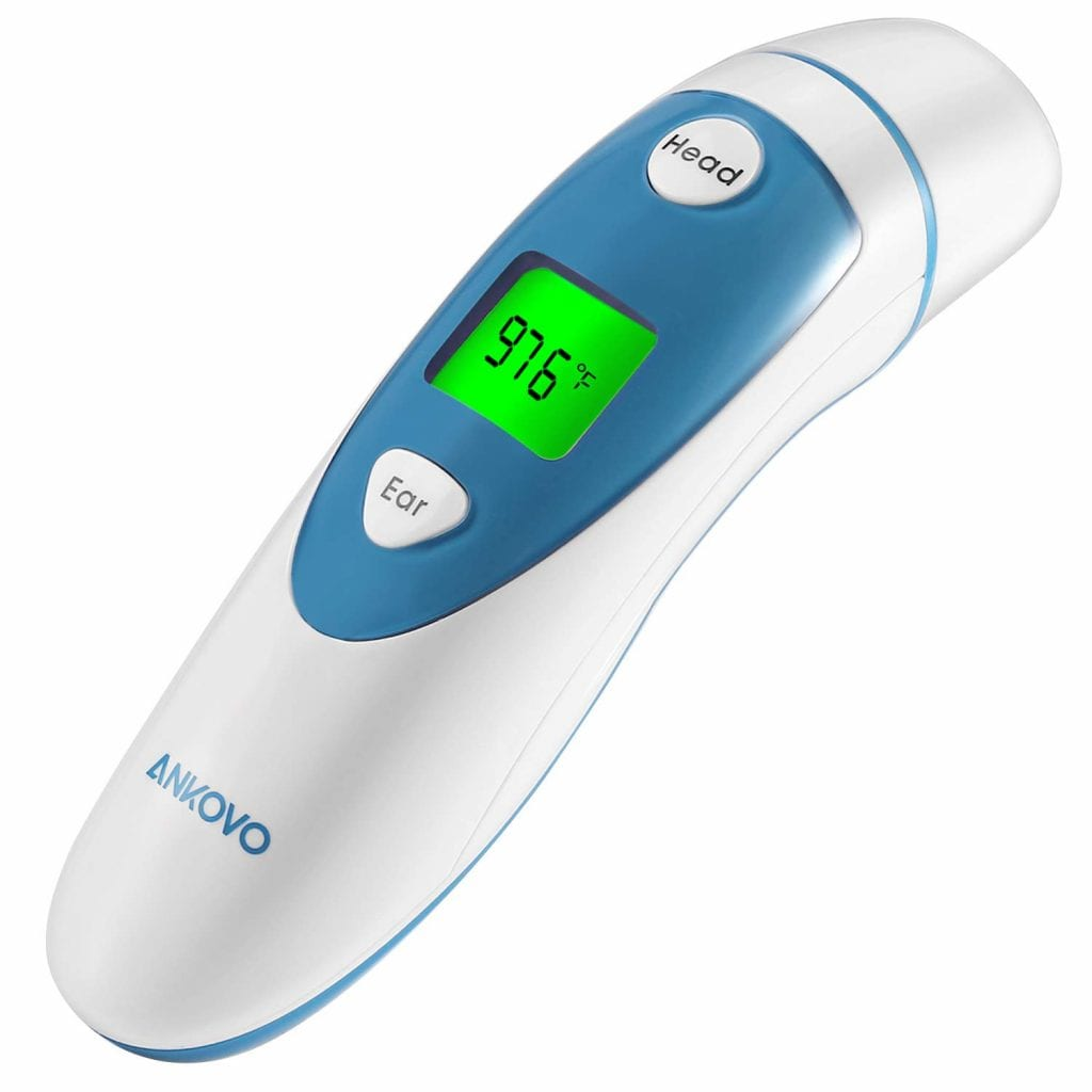 ANKOVO Infrared Ear and Forehead Thermometer