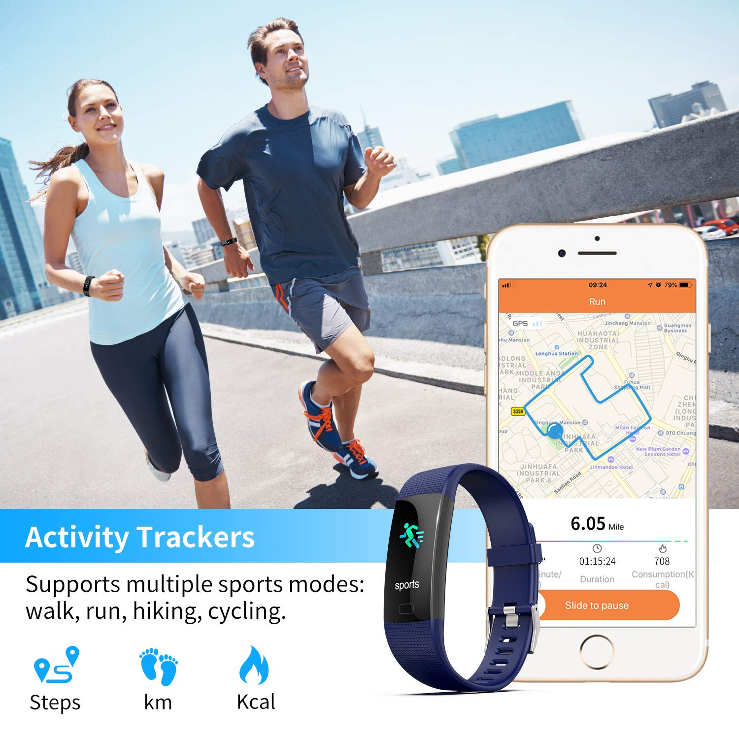 Apirka Fitness Activity Tracker HR