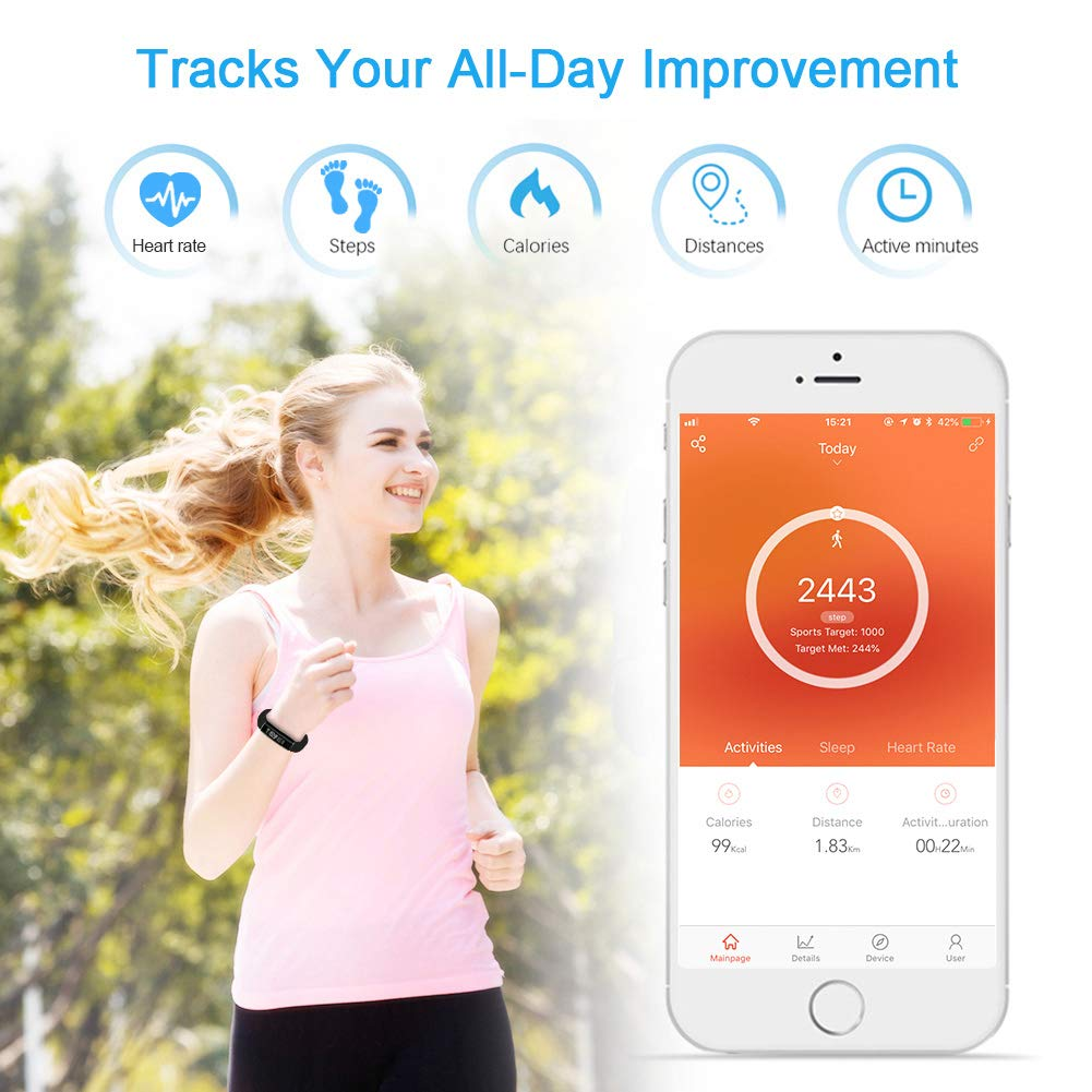 Letsfit Fitness Activity Tracker