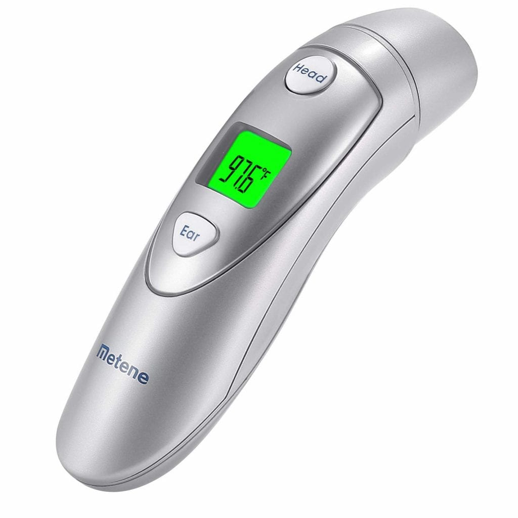 METENE Medical Ear and Forehead Baby Thermometer
