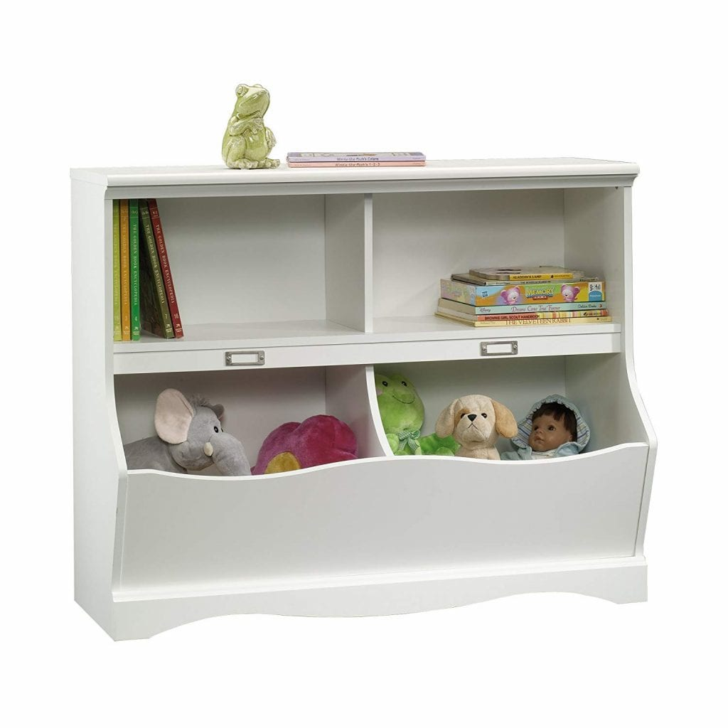 Sauder's Soft White Bookcase