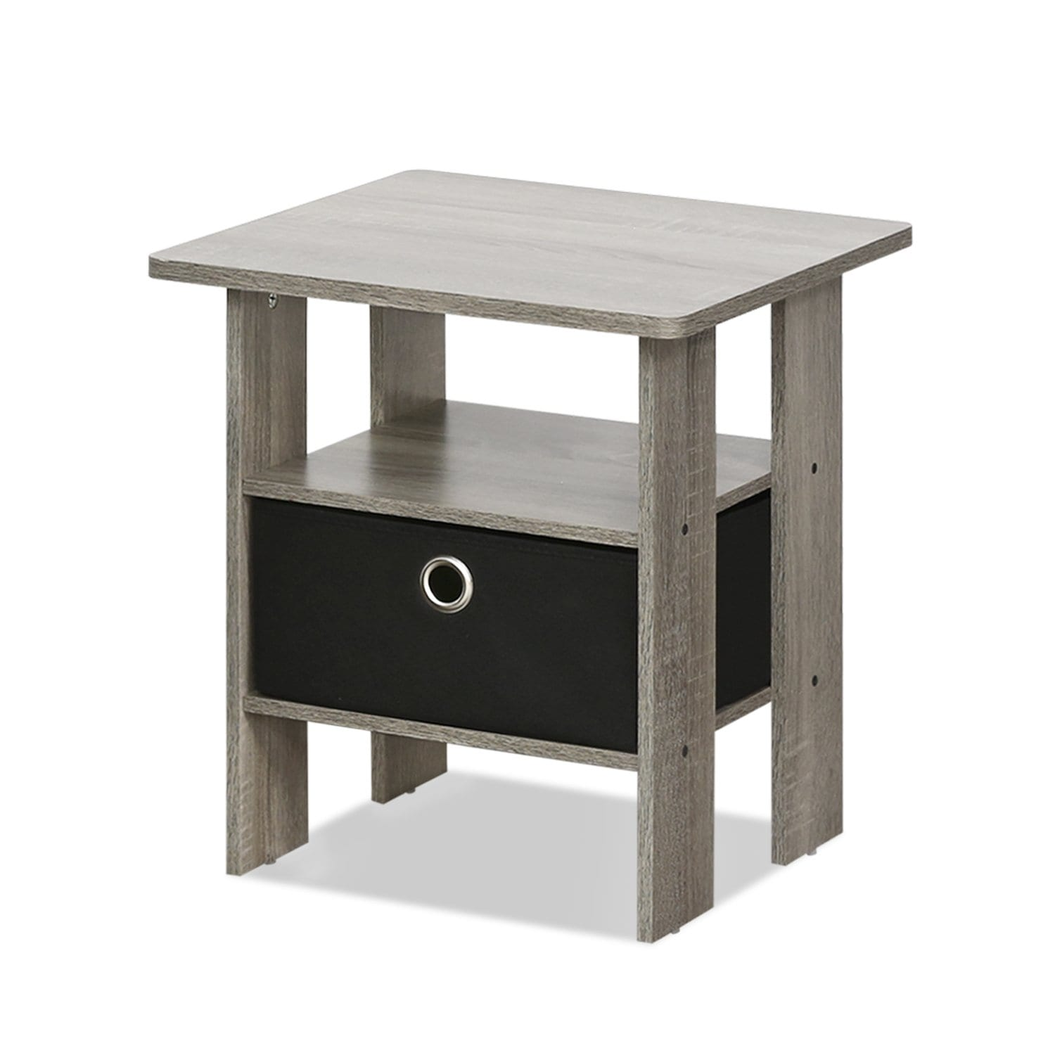 1. Furinno 11157GywBk Night Stand 1 End Table French Oak Grey
