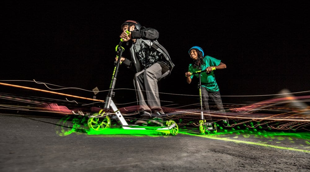New Neon Flash Kids Scooter