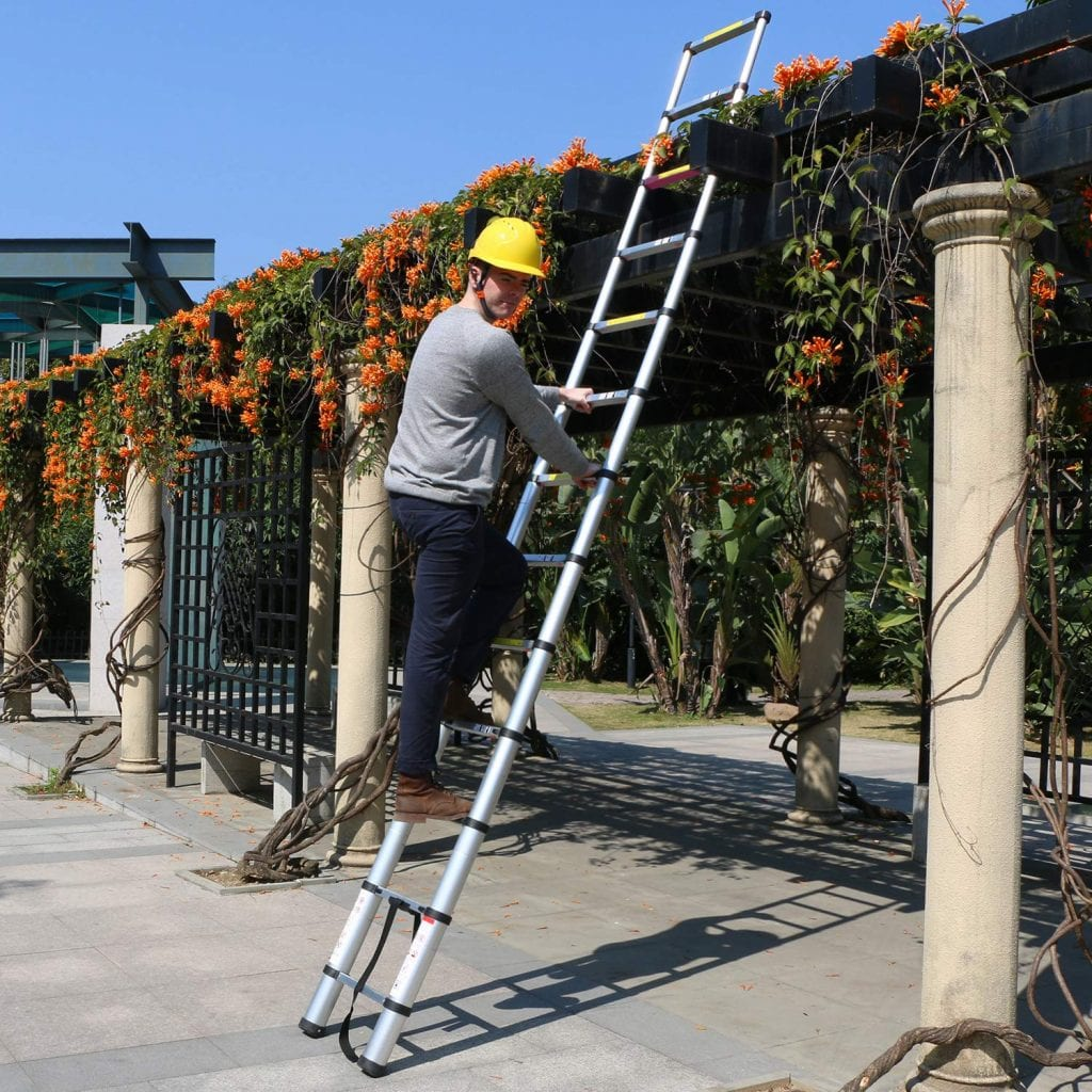 Xaestival 15.5ft EN131 Upgrade Telescoping Ladder