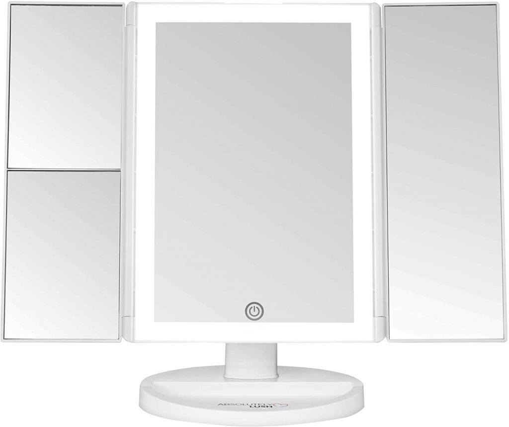 Absolutely Luvly Trifold Vanity Makeup Mirror