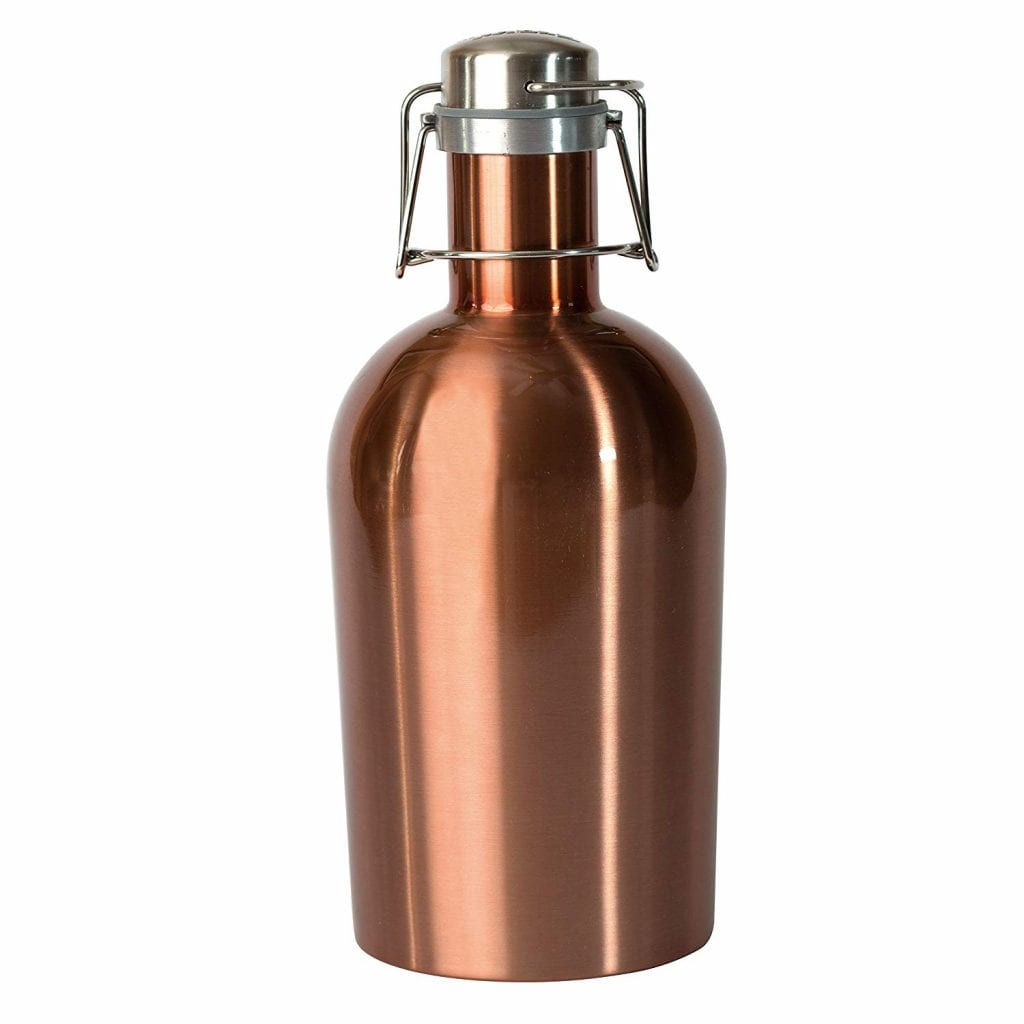 Asobu Stainless Steel Beer Growler, Copper