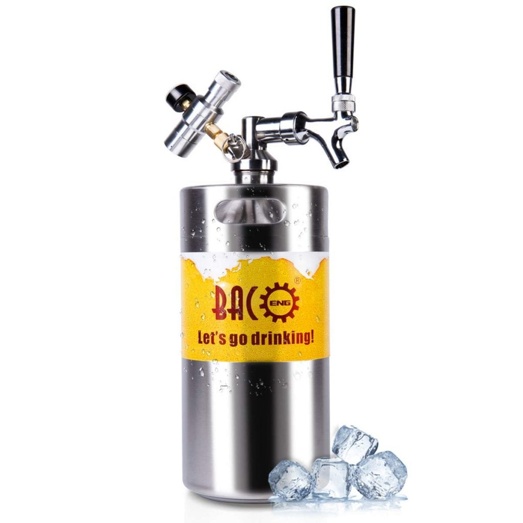 BACOENG 128 Ounce Pressurized Growler for Home Beer