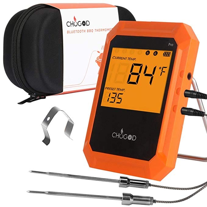 BBQ Meat Thermometer, Bluetooth Remote Cooking Thermometer, Digital Oven Thermometer with 6 Probe Port for Smoker Grilling