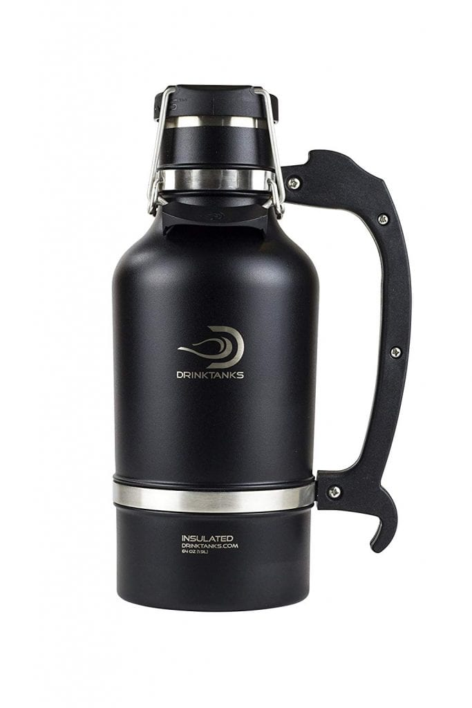 DrinkTanks Insulated Beer Growler, Stainless Steel