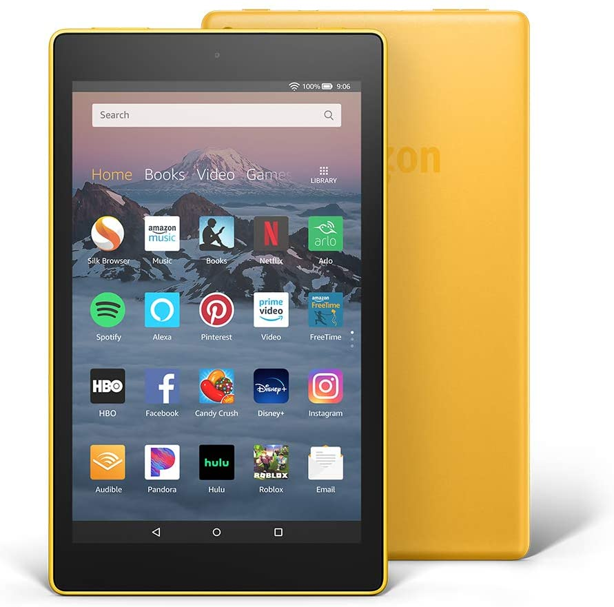 Fire 8 Inches HD Display Yellow Tablet