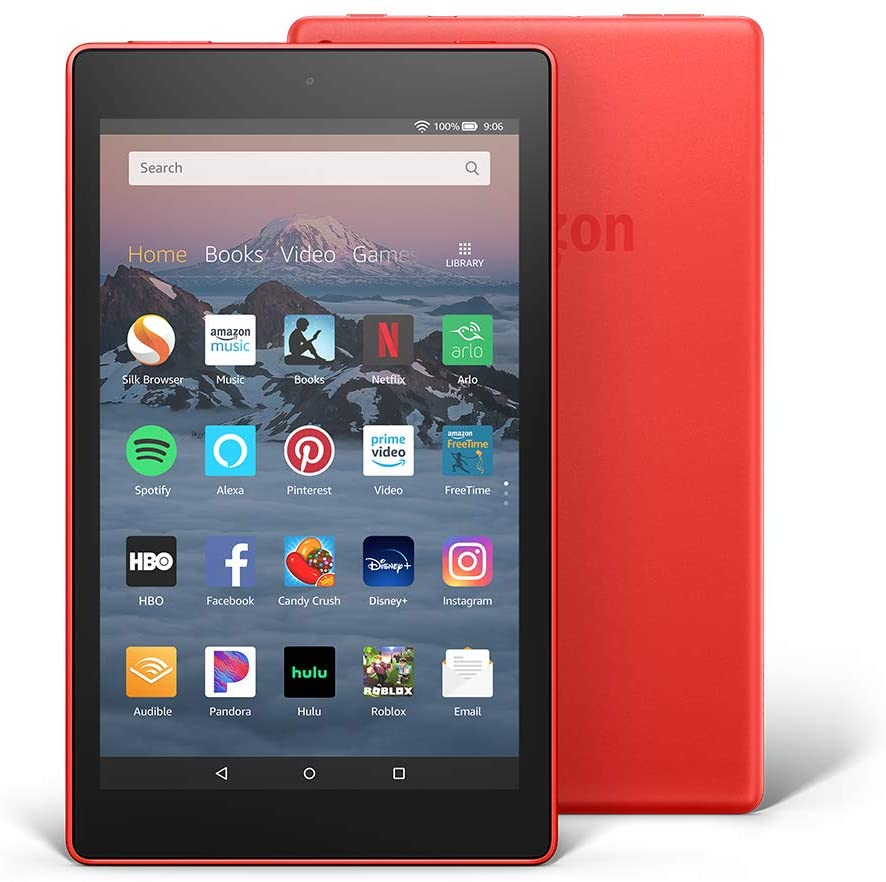 Fire Red 16GB Display 8 Inches HD Tablet