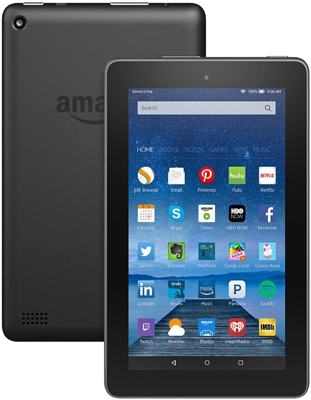 Fire Tablet Black 8 GB With Alexa