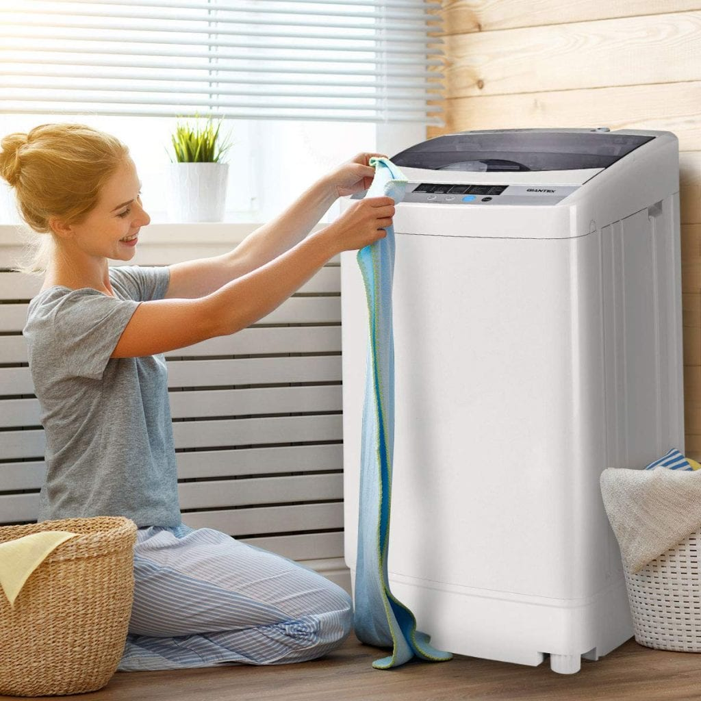 Giantex Full-Automatic Washing Machine Portable Compact Washer