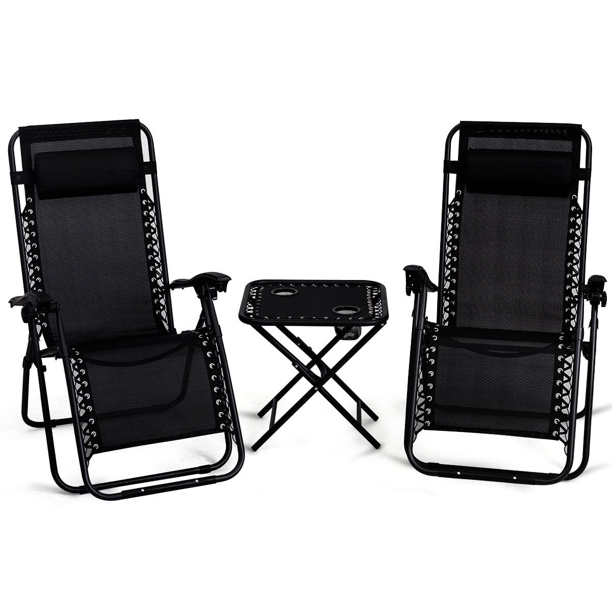 Giantex Zero Gravity Patio Chaise Lounge Chair Set