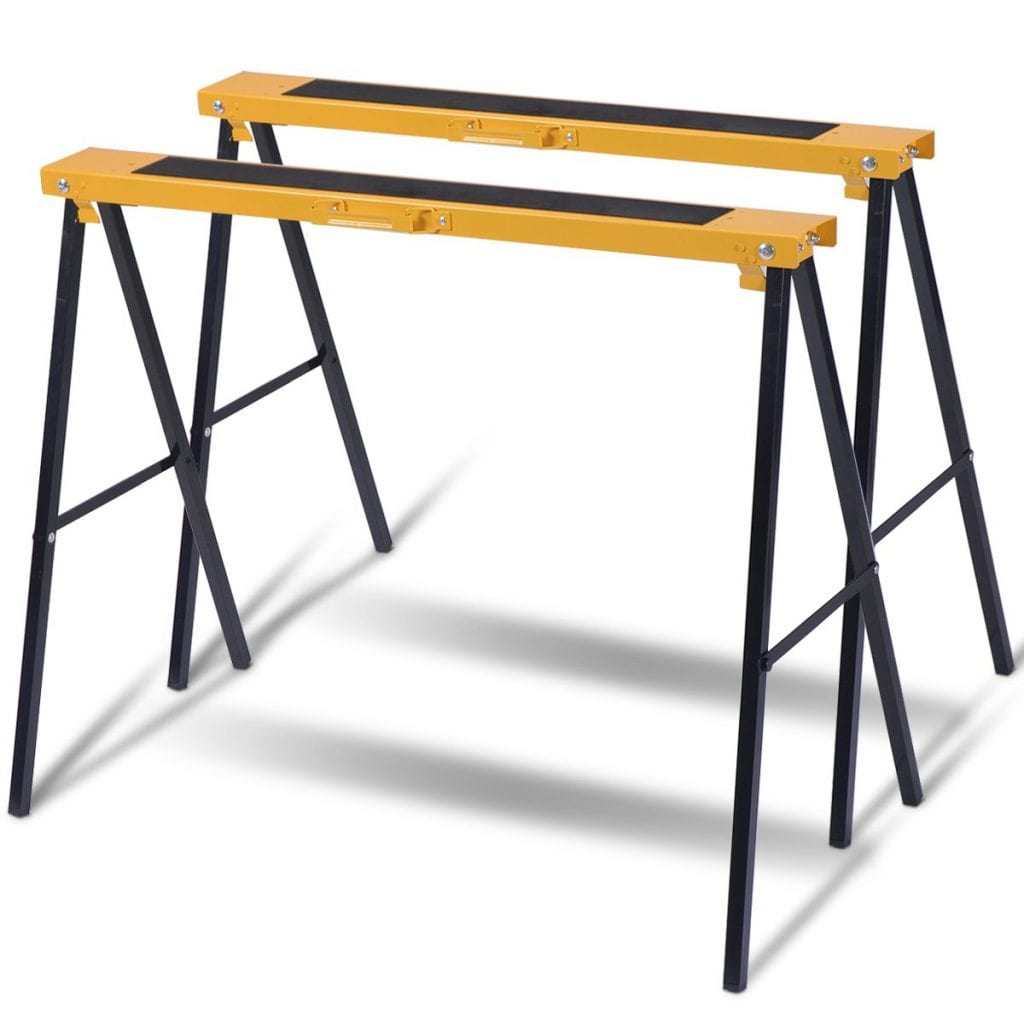 Goplus Sawhorse Folding Portable Capacity