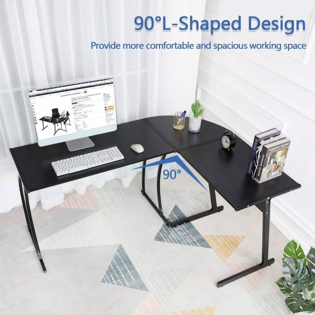 Green Forest Office Gaming House L shaped Workstation Desk
