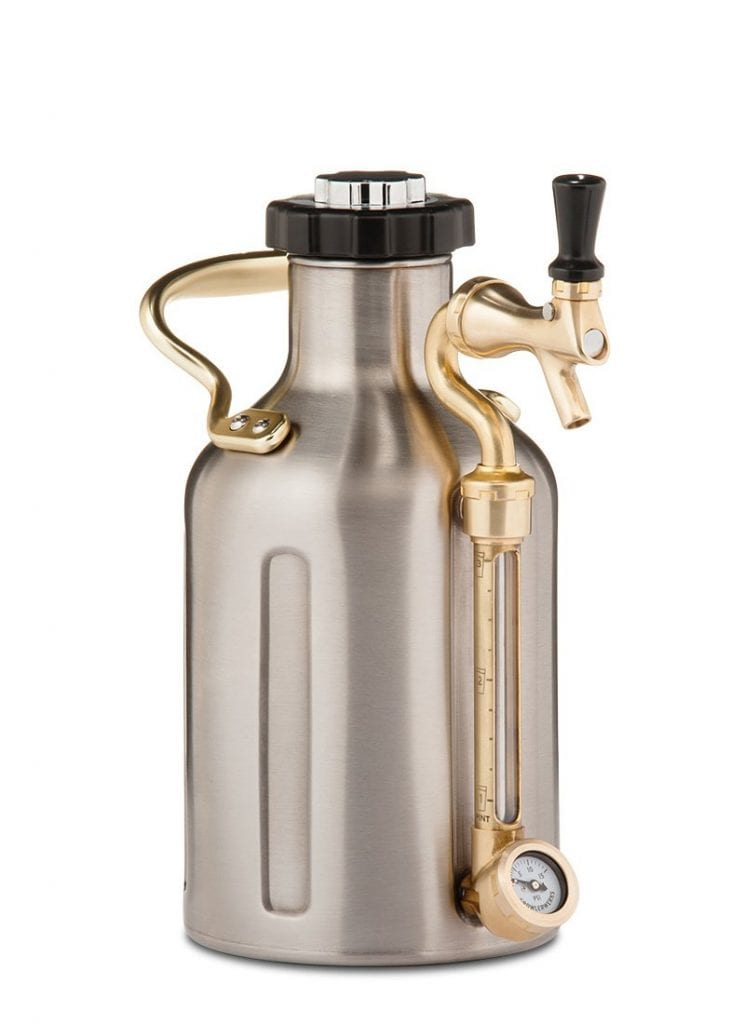 GrowlerWerks Ukeg 64 Beer Growler, Stainless Steel