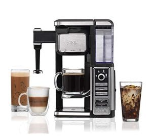 Ninja Single-Serve, Pod-Free Coffee Maker Bar with Hot and Iced Coffee, Auto-iQ, Built-In Milk Frother, 5 Brew Styles, and Water Reservoir (CF111)