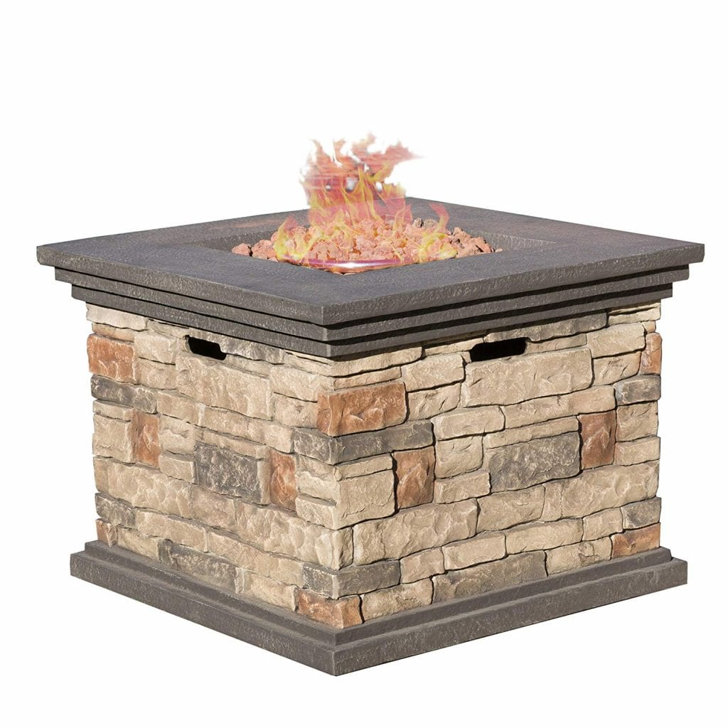 Outdoor Square Stone Fire Pit