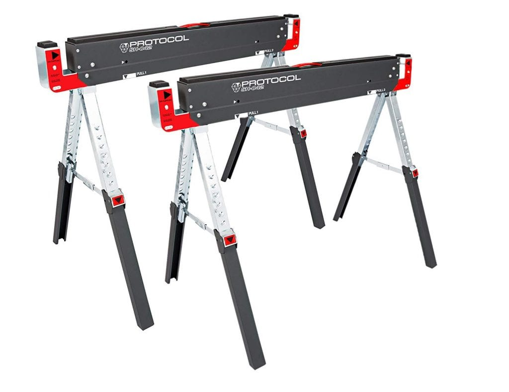 PROTOCOL Equipment 42-Inch Adjustable Sawhorse