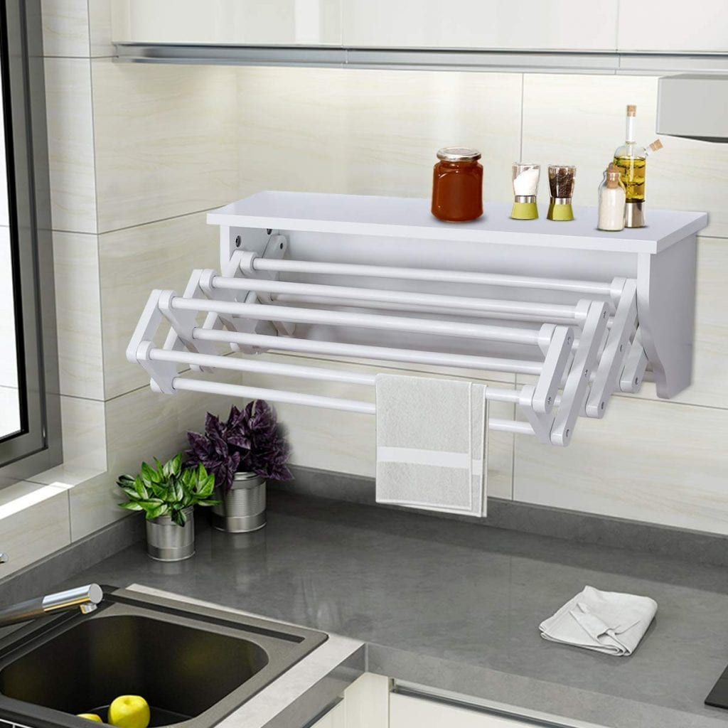 Tangkula Wall Mount Drying Rack
