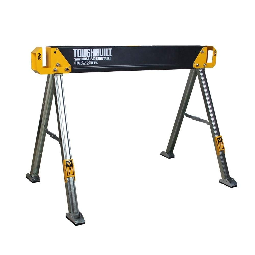 ToughBuilt Sawhorse Lightweight Heavy Duty 41-5 Inch