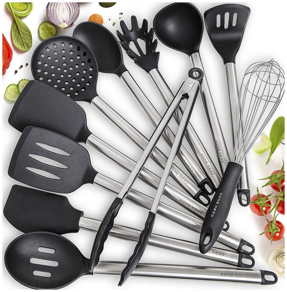 11 Silicone Cooking Utensils Kitchen Utensil set