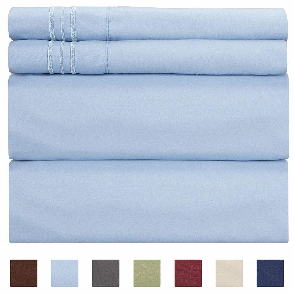CGK Unlimited Queen Size Sheet Set, 4 Piece - Hotel Luxury Bed Sheets