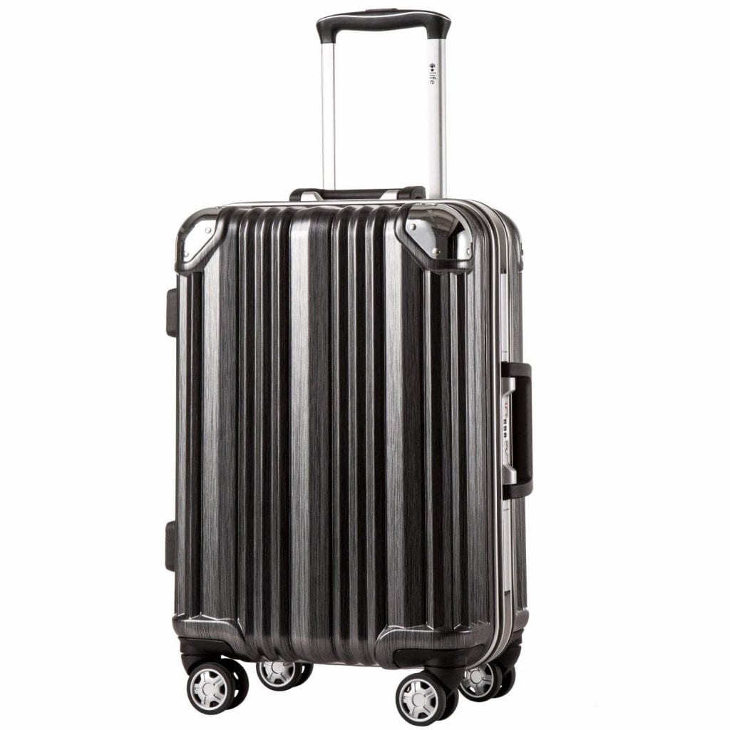 Coolife Luggage Aluminium Frame Suitcase