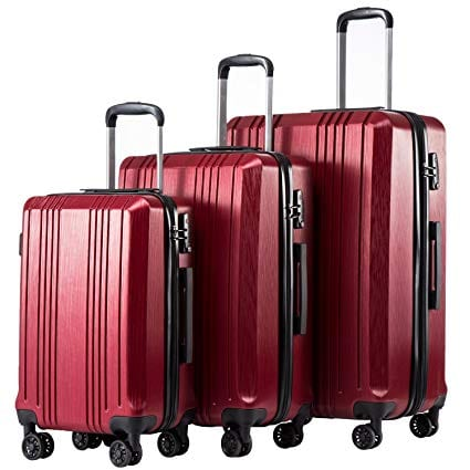 Coolife Luggage Expandable Suitcase