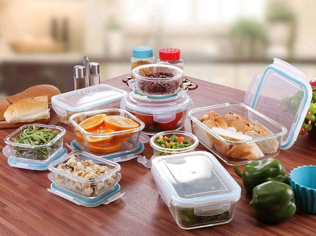 Glass 18 Pieces Set Food Storage Container by Utopia Kitchen