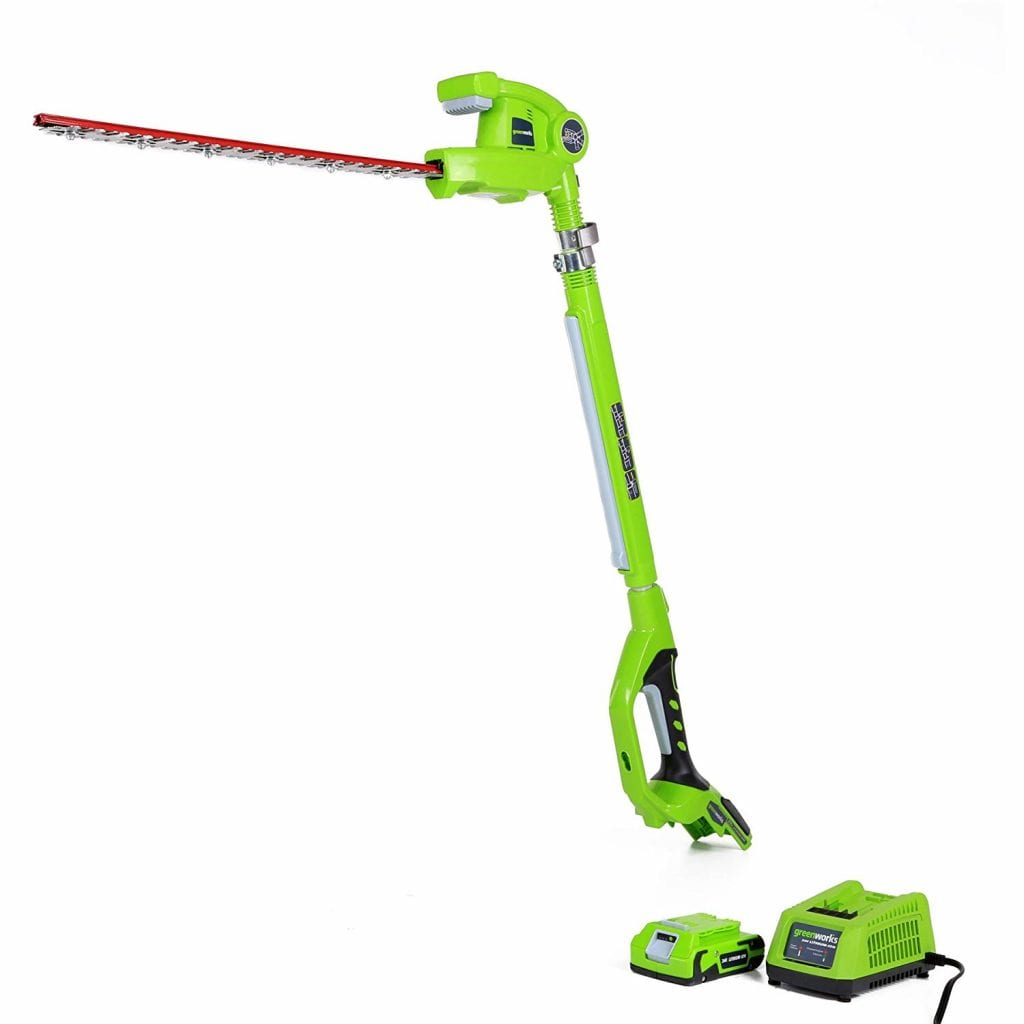 Greenworks 20-Inch 24V Cordless Hedge Trimmer
