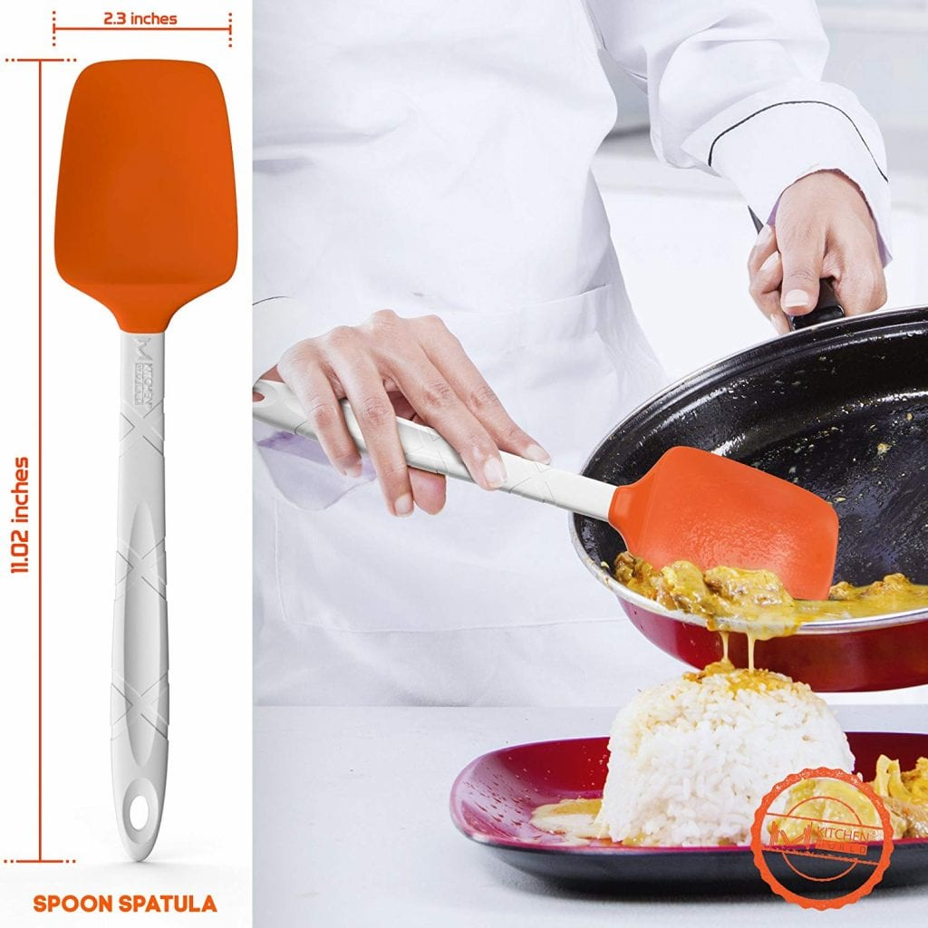 M KITCHEN WORLD Heat Resistant Silicone Spatulas Set