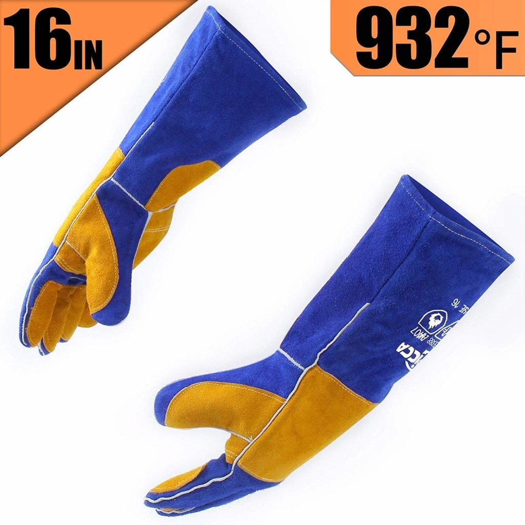 RAPICCA Leather Forge Welding Gloves Heat/Fire Resistant