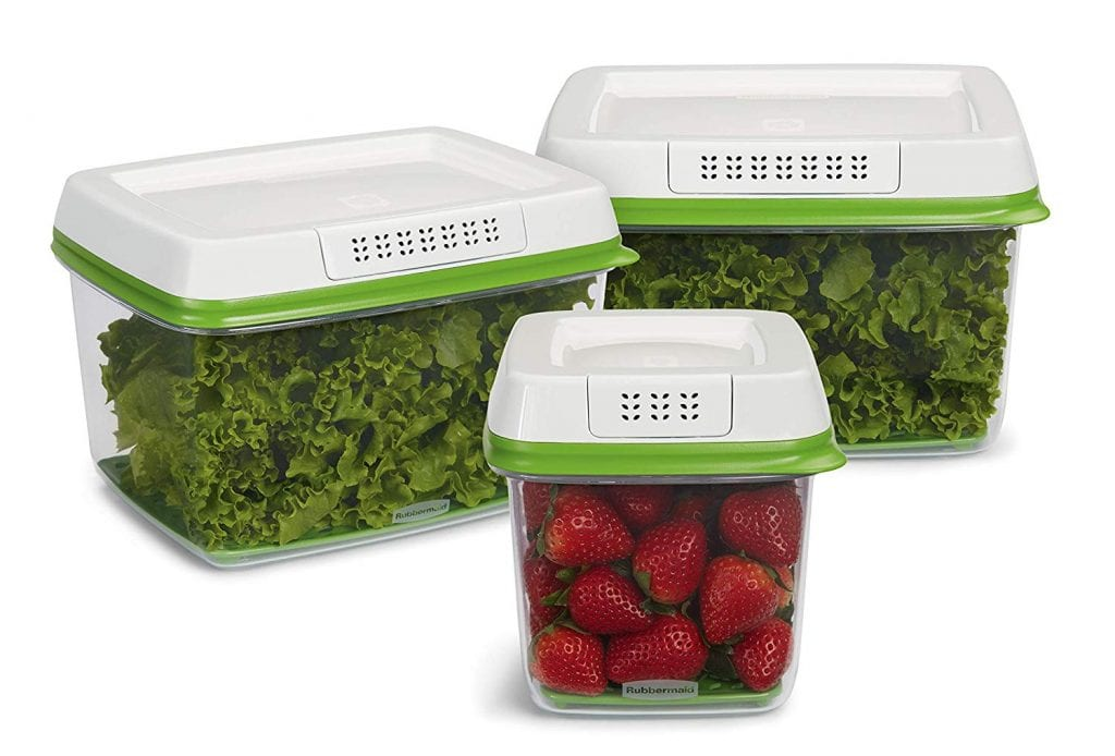 Rubbermaid FreshWorks Produce Saver Food Storage Containers, 3-Piece Set
